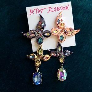 Flash sale Betsey Johnson butterfly dangles